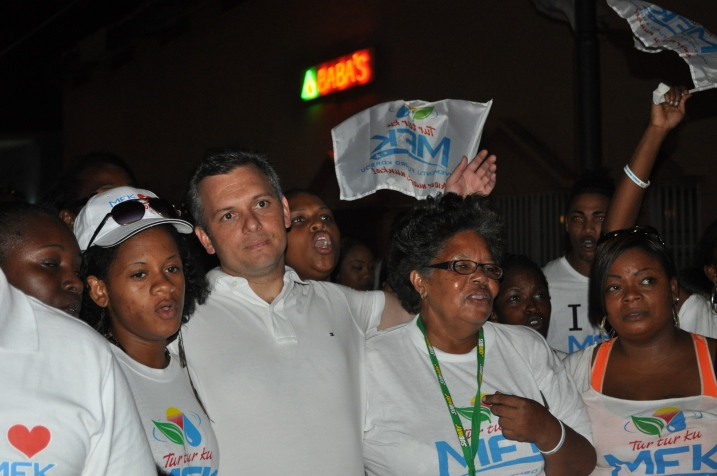 Former Prime Minister of Curacao Gerrit Schotte emerges from his self imposed lockdown Sept. 28