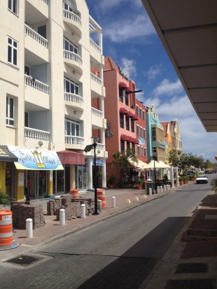 Downtown Willemstad, along the harbor