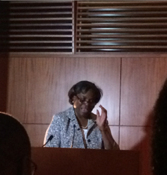 Assistant Secretary of State for African Affairs Linda Thomas-Greenfield delivering the 2014 Andrew Young Lecture at the Nigerian Embassy in Washington D.C.